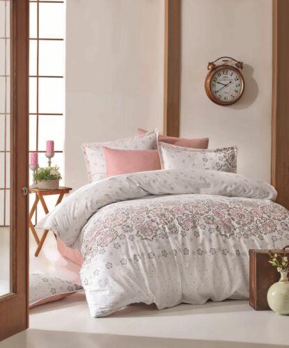 Bettwäsche 135x200 cm Bettgarnitur Bettbezug Baumwolle Kissen 6 tlg LOTUS PINK