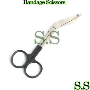 Color-Bandage-Scissor-Paramedic-Nurses-Uniform-Supply-Black-Handle
