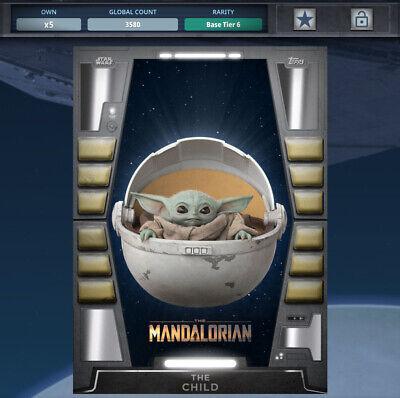 MANDO MONDAYS Wave 7 MOTION BASE 10 CARD SET Topps STAR WARS DIGITAL TRADER