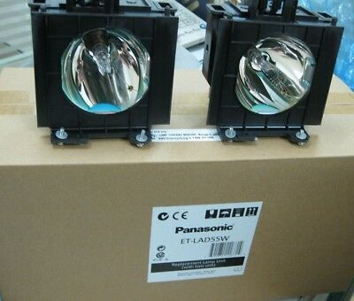 Panasonic PT-D5600 Multimedia Video LCD Projector OEM Compatible Twin-Pack Lamps
