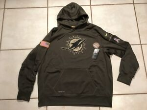 best loved d371f eb67a Details about NWT NIKE Miami Dolphins SALUTE TO SERVICE 2015 NFL Pullover  Hoodie Men's 3XL