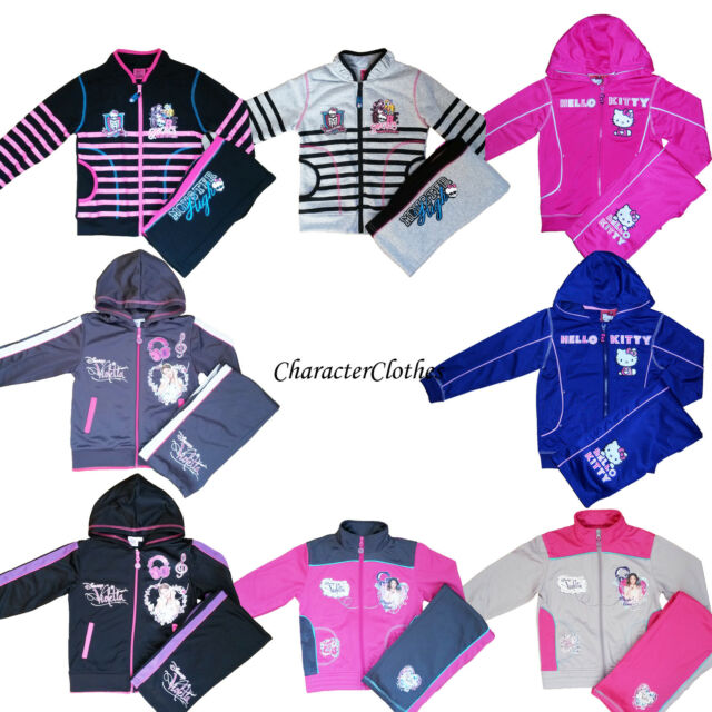 Girls MONSTER HIGH / HELLO KITTY/VIOLETTA Tracksuits Jogging Set Outfit Age 2-12