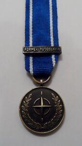 NATO-IFOR-Miniature-Medal-Former-Yugoslavia-Mini-Bosnia-Ribbon-Clasp