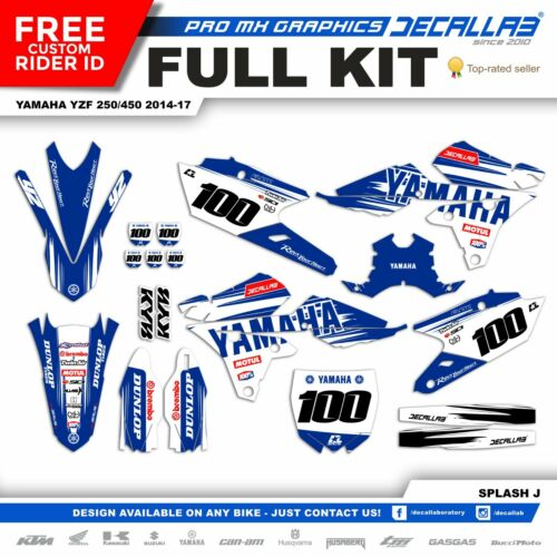 YAMAHA YZF250 YZF450 2014 2015 2016 2017 MX Graphics Decals Stickers Decallab