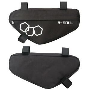 Waterproof-Mountain-Bike-Triangle-Bag-Bicycle-Frame-Front-Tube-Bags-Black
