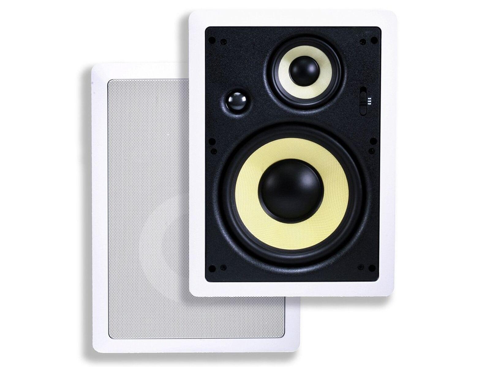 Monoprice Caliber In Wall Speakers 8 Inch Fiber 3-Way (pair) - 106816