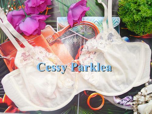 """Q4-3 US /""""Comfort Choice/"""" Beige Wire-Free Non-padded Front-Closure Bras Plus Size"""