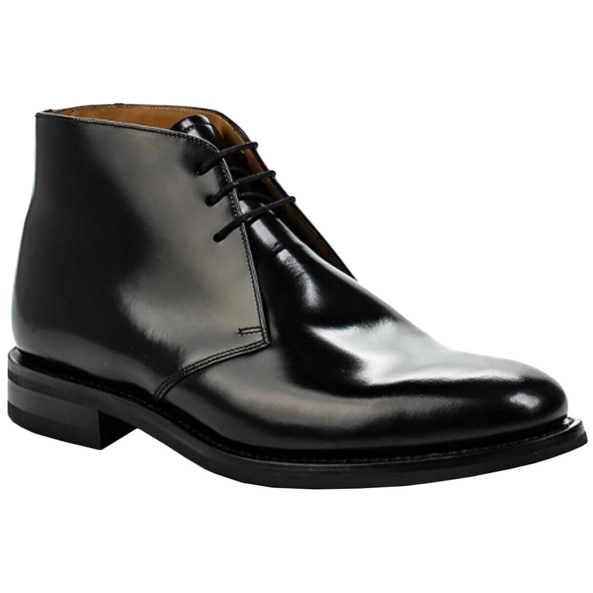 Loake Pulido Chukka Cuero Brillante Tobillo botas Para Hombre Formales Chukka