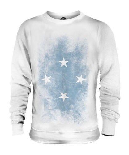 Mikronesien Verblichen Flag Unisex Pullover Top Fußball Geschenk Kleidung Jersey