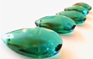 10-Caribbean-Green-Teardrop-Chandelier-Crystals-Prism-38mm-Teal-Pendant