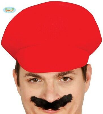 Accurato Adulto Idraulico Costume Cappello Rosso Mario Tipo Idraulici Mate Cappello Nuovo Fg.-mostra Il Titolo Originale