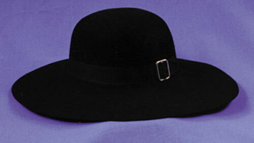 GA18LG Morris Costume Adult Unisex Top Quality Realistic Quaker Hat Black L