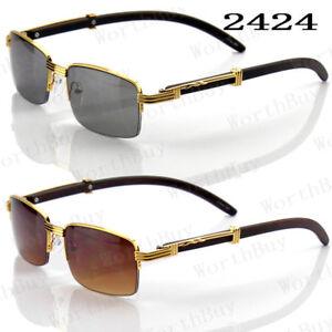 08ad78f0de8 New Mens Womens Rectangular Half Rim Vintage Retro Sunglasses Shades ...