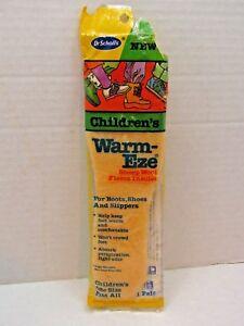 Vintage-1986-Dr-Scholl-039-s-Children-039-s-Warm-Eze-Sheep-Wool-Fleece-Insoles-One-Size