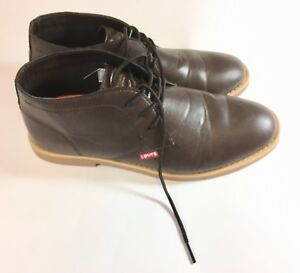 Levis-Men-s-Ankle-Boots-Sz-10-5-M-Brown-Chocolate-Casual
