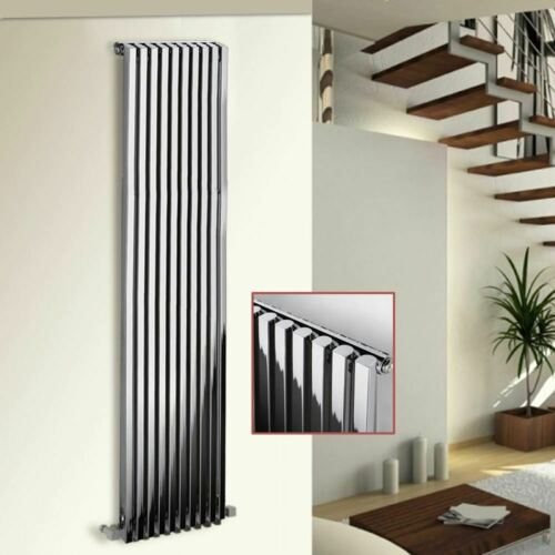 "8 Sizes D-Profile Vertical Radiators Ultraheat /""Klon/"" Designer Chrome Single"