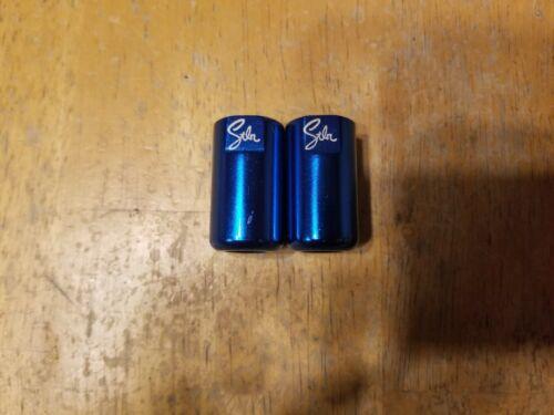 "Stolen Brand BMX Bike Threaded Allen Socket Axle Nuts 3//8/"" X 26T 8mm Blue"
