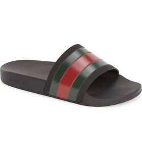 cf2e900db358a Image is loading Gucci-Men-s-Pursuit-Rubber-Slide-Sandal-Size-