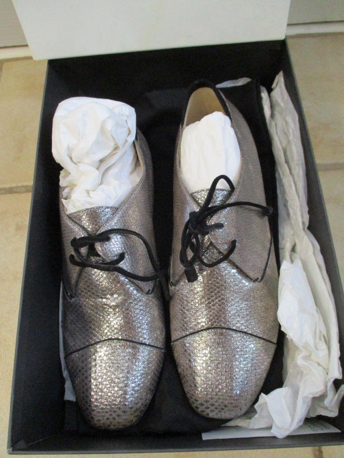 Nuova w    Box Nicholas Kirkwood argento scarpe w   Suede Laces, Italia, 38  8.5, Bellezza  consegna diretta e rapida in fabbrica