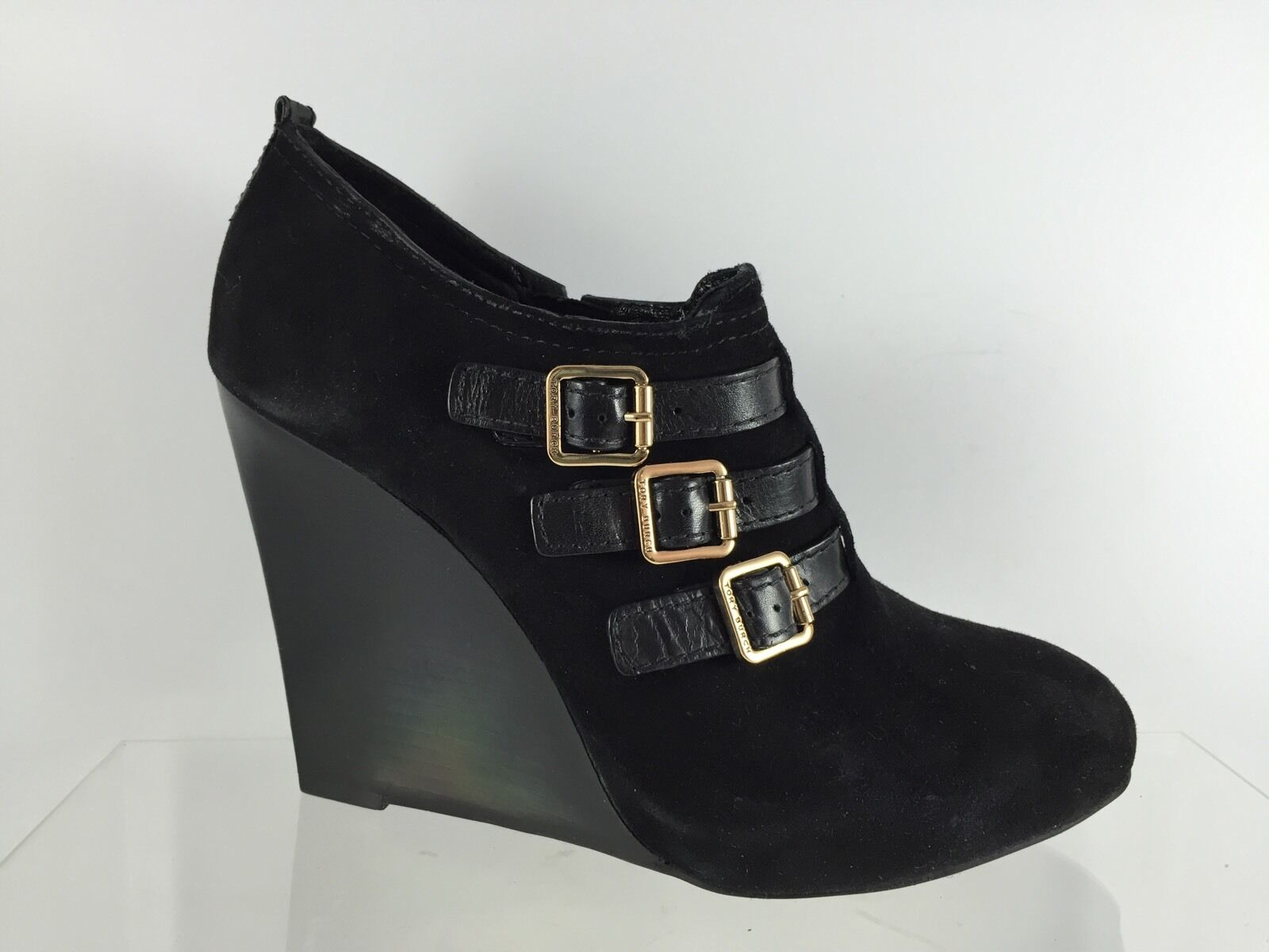 Tory Burch Womens Black Leather Ankle Boots 9 M