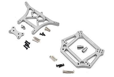 G Traxxas 2wd Slash Stampede Rustler STRC Aluminum Front /& Rear Shock Tower Set