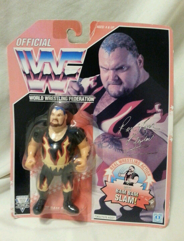 WWF - Wrestler Bam Bam Bigelow Vintage Series 8 Hasbro MOC Figure 1994 Unopened