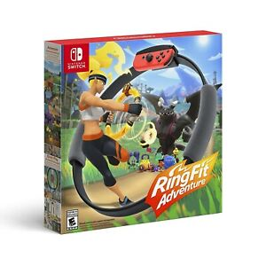 Ring Fit Adventure Standard Edition (Nintendo Switch, 2019) Game + Accessories