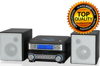 Player Compact System Home Stereo Tuner Music Cd Am Hc221b Fm Room Speakers Mp3