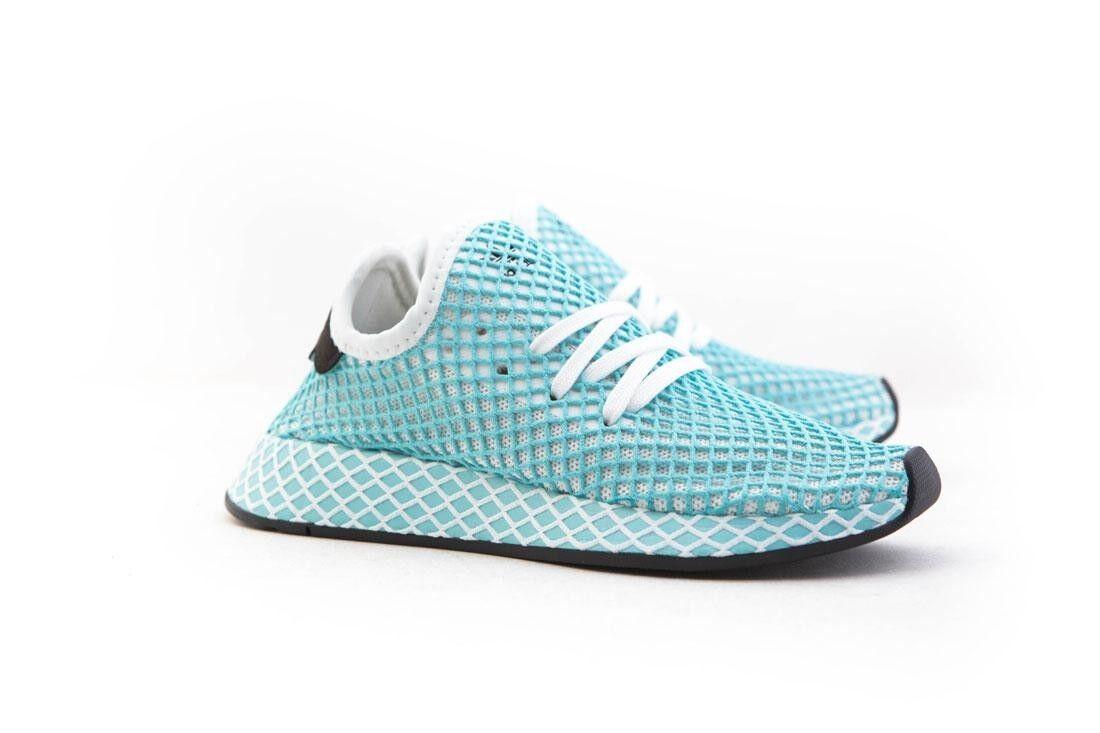 CQ2908 Adidas femmes Deerupt Runner Runner Runner Parley W blanc footear blanc bleu spirit 247a3b