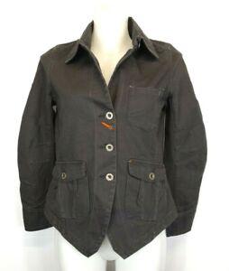 H40) WRANGLER Blue Bella Jeans Jacke Gr.XS 34 Worker Jacket Neu Faded Black