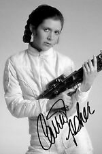 """Carrie Fisher Signed Autographed PP 6""""x4"""" 15cmx10cm inch photo"""