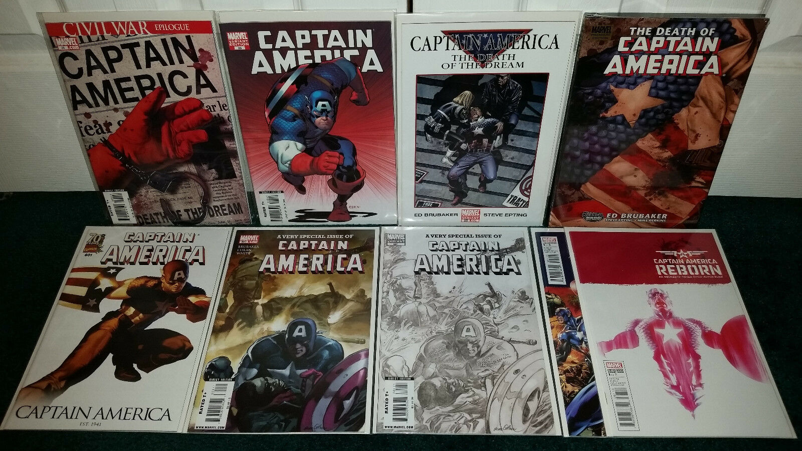 Captain America Civil War Epilogue Variant Reborn + Hardcover Marvel