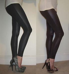 New WET LOOK Leggings LONG LENGTH SIZES 6-18