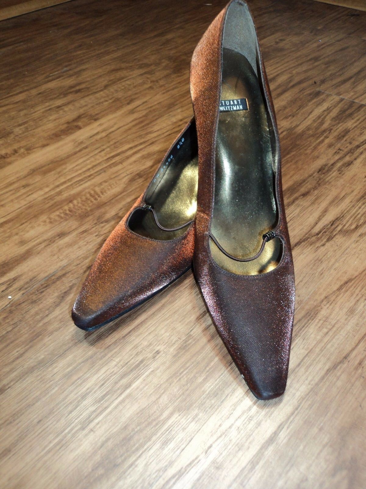 Stuart Heels, Weitzman Metallic Copper Mary Jane Stiletto Heels, Stuart Größe 8.5B Stunning HOT 87418a