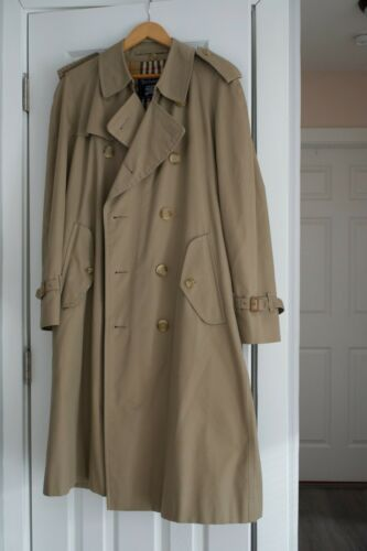Women's Vintage Burberry Trench Coat Khaki Beige P