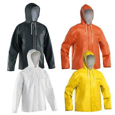 Yellow Grundens Clipper 82 Hooded Jacket-Fishing Raingear Pick Size-Free Ship