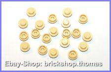Lego 20 x Platte rund beige (1 x 1) - 4073 - Plate Round Tan - NEU / NEW