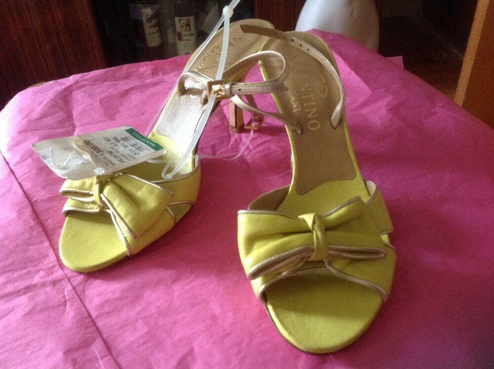 VALENTINO Garavani leather heels peep peep peep toe bow schuhe slingback pumps Sz 36 ,5 18aea8