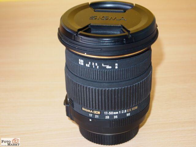 Sigma 17-50mm 1:2,8 EX HSM Lens Optical Stabilizer for Nikon Bayonet