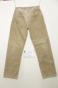 Levi-039-s-551-velluto-boyfriend-jeans-usato-Cod-E224-Tg-45-W31-L34-vintage