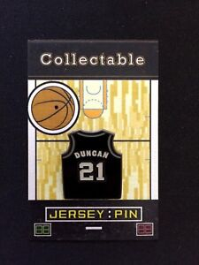 uk availability 7164e 81803 San Antonio Spurs Tim Duncan jersey lapel pin-#1 Hardwood ...