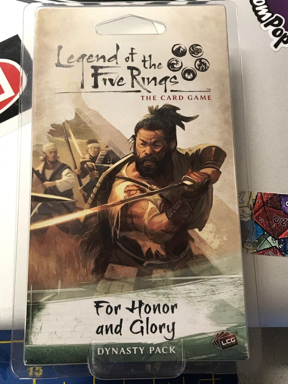 Fantasy Flight Games FFGL5C03 For Honor and Glory L5R LCG Pack de ampliaci/ón para juego de cartas Honor y Glory multicolor color//modelo surtido