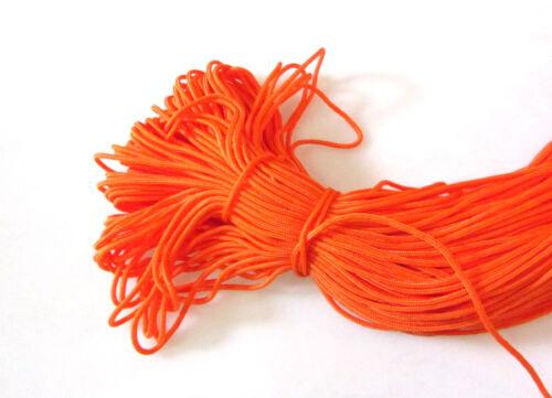 300ft  Dia 2mm Orange Nylon Rope Braided Cord Rope For Anchor Bracelet