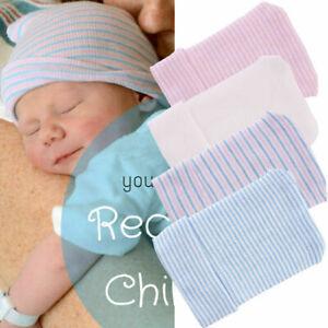 New Soft Cotton Baby Boy Girl Hat Infant Striped Fetal Hat Newborn Hospital Caps