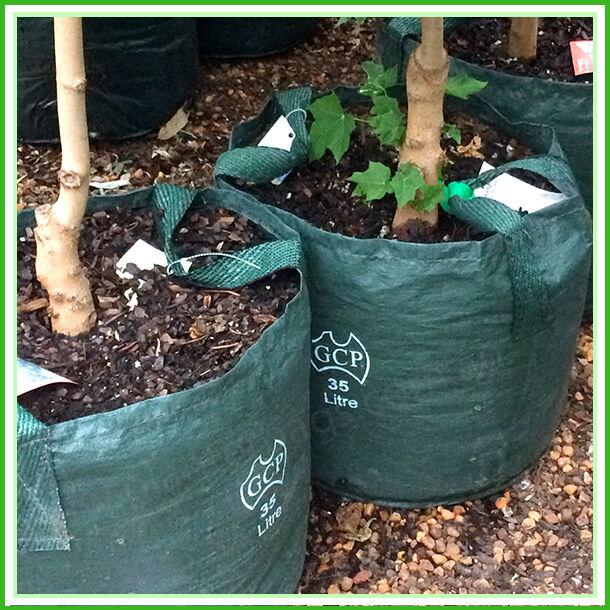 35 litre WOVEN Planter Bags Pack x 20. Plant bags Landscape Grow bag