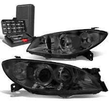 For 2004 2009 Mazda 3 Sedan Smokedclear Signal Projector Headlightstool Box Fits Mazda 3