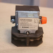 Cutler Hammer D26MT Pneumatic Time Delay Relay Attachment Type M Series A2 USED