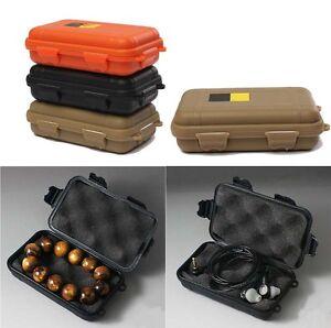 plastik wasserdicht luftdichten reisen aufbewahrungsbox beh lter speicher kaki ebay. Black Bedroom Furniture Sets. Home Design Ideas