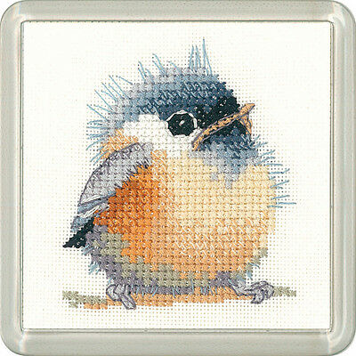 Puffin Heritage Crafts Little Friends Coaster Cross Stitch Kit