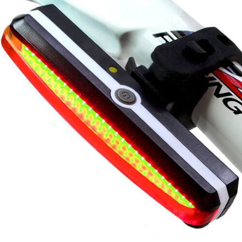 USB Rechargeable LED Bicycle Bike Cycling Front Rear Tail Light 6 Modes Lamp RF